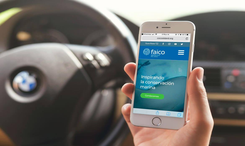 Sitio Web Faico, Amigos Isla del Coco - responsive